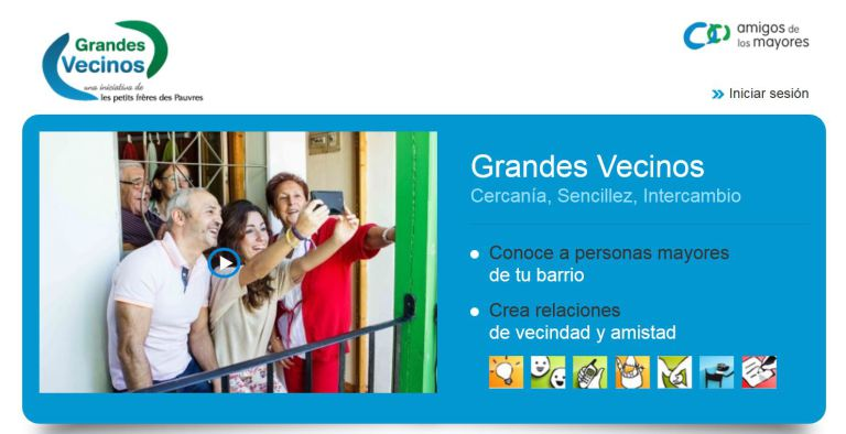 programa Grandes vecinos de la Fundación Amigos de los Mayores.