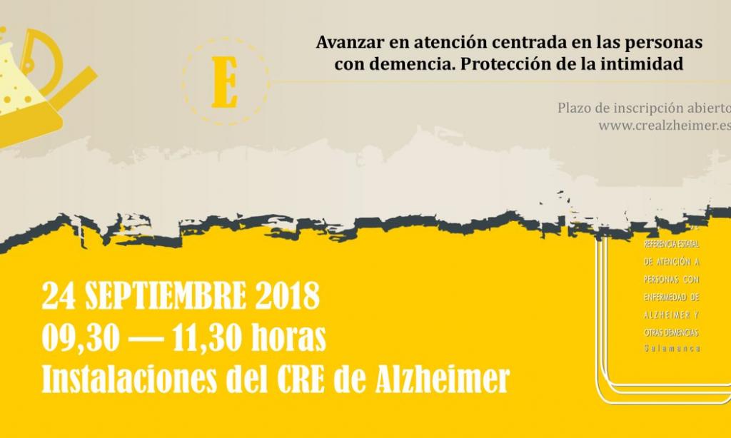 """EL CRE Alzheimer Salamanca abre la matrícula seminario gratuito  """"Avanzar en atención centrada en las personas con demencia. Protección de la intimidad"""""""