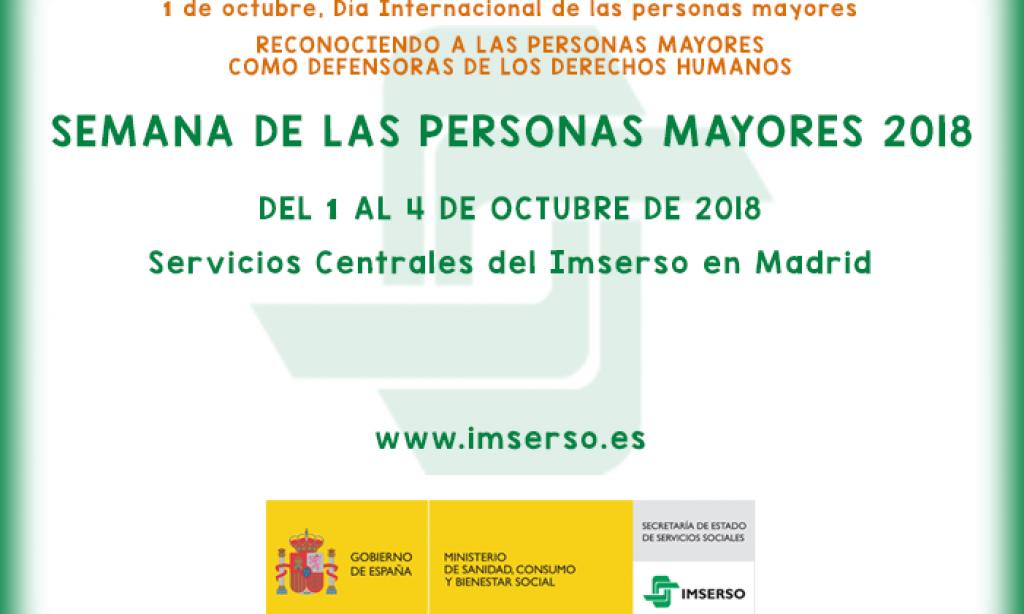 IMSERSO – Semana de las personas mayores 2018