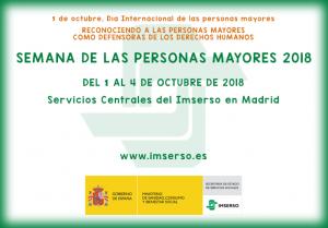IMSERSO - Semana de las personas mayores 2018 @ IMSERSO