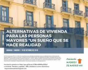 Jornada sobre alternativas de vivienda para personas Mayores @ Salón de actos Ernest Lluch, Ministerio de Sanidad, Consumo y Bienestar Social