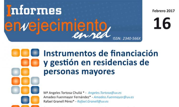 Instrumentos de financiación y gestión en residencias de personas mayores