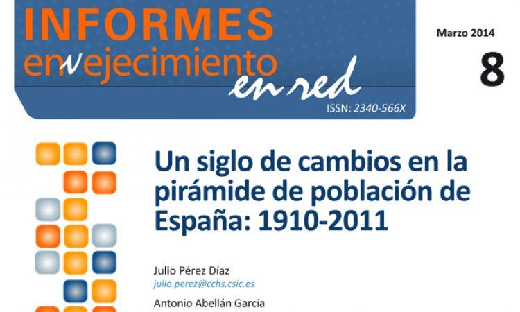 Un siglo de cambios en la pirámide de población de España: 1910-2011
