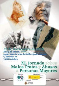 XL Jornada sobre prevención malos tratos y abusos a personas mayores @ Salón de actos del Edifici Quatre Cantons