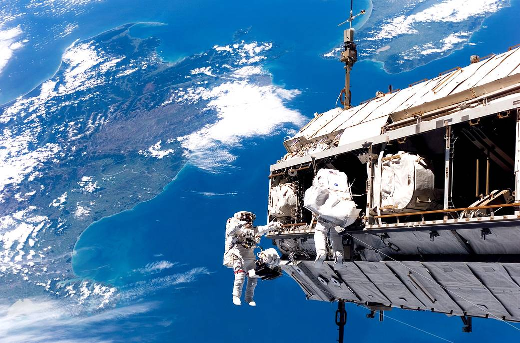 Space Station Assembly Spacewalk