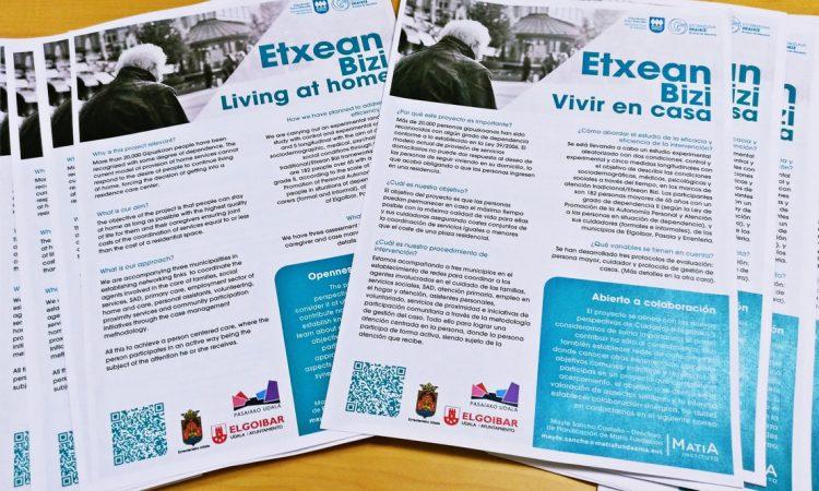 Etxean Bizi:  Un proyecto para vivir en el domicilio en situación de dependencia