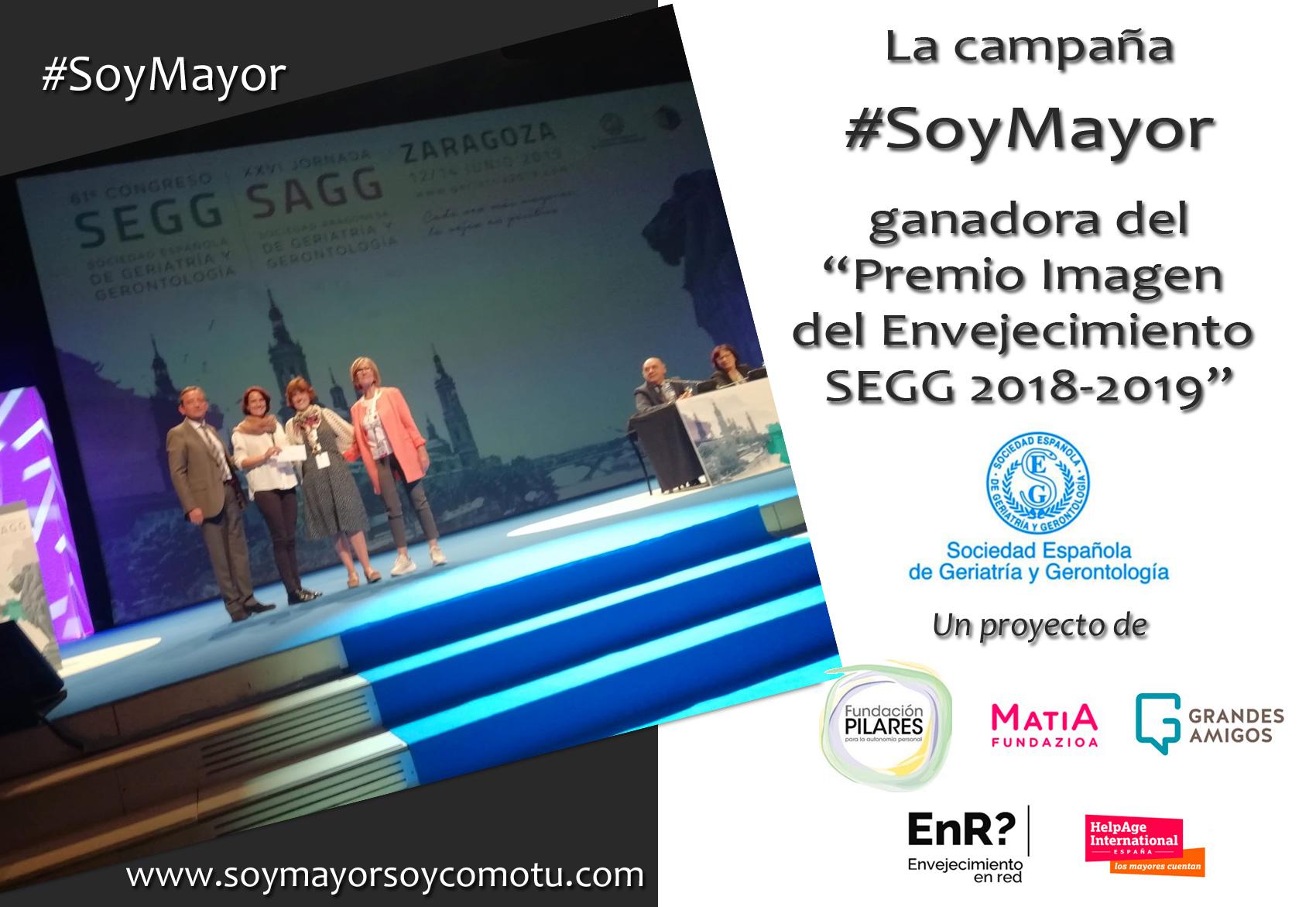 """La campaña """"SoyMayor"""", en la que participa Envejecimiento en red, ganadora del Premio a la nueva imagen del Envejecimiento"""